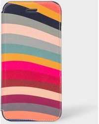 Paul Smith 'swirl' Print Leather Iphone 6/6s/7/8 Wallet Case - Multicolour