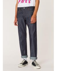 Paul Smith - Standard-fit Raw Selvedge Denim Red Ear Jeans - Lyst