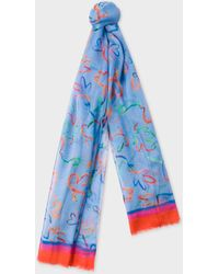 Paul Smith - Blue 'Acapulco' Print Scarf - Lyst