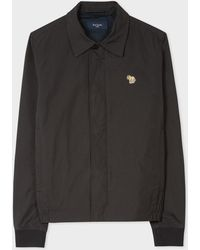 Paul Smith Black Zebra Logo Coach Jacket