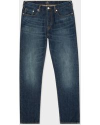 Paul Smith Tapered-fit Dark-wash 'conetm Red Selvedge' Jeans - Blue