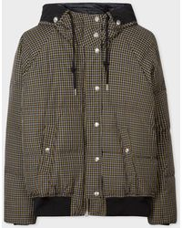 Paul Smith Black Check Down-filled Puffer Coat