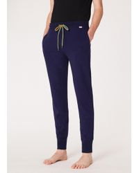 Paul Smith - Navy Cotton Jersey Lounge Trousers - Lyst
