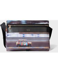 Paul Smith 'racing Mini' Print Canvas Cross Body Bag - Multicolor