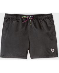 Paul Smith Black Zebra Logo Swim Shorts