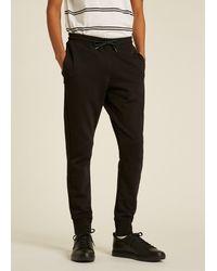 Paul Smith Pantalon de Survêtement Noir Logo Zebra Coupe Slim en Coton Bio