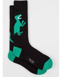 Paul Smith Black And Green 'dino' Socks