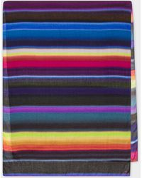 Paul Smith Multi-coloured 'horizon' Stripe Scarf - Multicolour