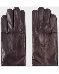 Paul Smith - Navy Leather Gloves - Lyst