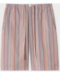 Paul Smith Short De Pyjama 'Signature Stripe' En Coton - Multicolore