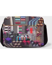 Paul Smith - 'Geometric Mini' Print Canvas Messenger Bag - Lyst