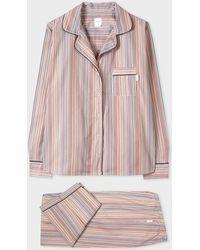 Paul Smith Signature Stripe Cotton Pajama Set - Multicolor