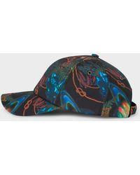 bca30d74e34 Paul Smith  Dreamer  Print Baseball Cap in Blue for Men - Lyst