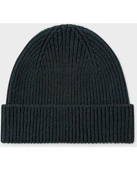 Paul Smith Dark Green Cashmere-blend Beanie Hat