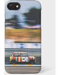 Paul Smith 'racing Mini' Print Leather Iphone 6/6s/7/8 Case - Multicolour