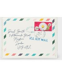 Paul Smith Off-white 'envelope' Leather Card Purse