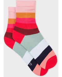 Paul Smith Set-of-three Striped Socks - Pink