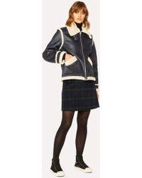 Paul Smith Blackwatch Tartan Wool-Blend A-Line Skirt