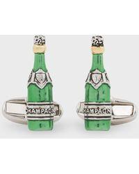 Paul Smith 'champagne Bottle' Cufflinks - Green