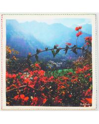 Paul Smith 'Indian Landscape' Print Cotton Pocket Square - Multicolour