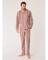 Paul Smith Signature Stripe Cotton Pyjama Set - Red