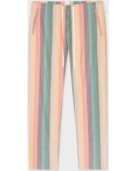 Paul Smith - Bas De Pyjama Homme À Rayures 'Artist Stripe' En Coton - Lyst