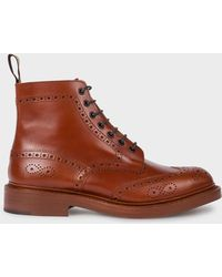 Paul Smith Tricker's For - Marron Antique Leather 'stow' Boots - Brown