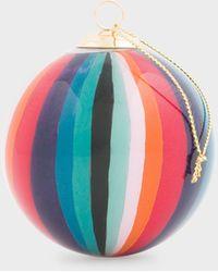 Paul Smith Hand-painted 'artist Stripe' Glass Bauble - Multicolour