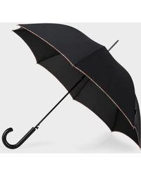 Paul Smith - Umbrellas - Black Signature Stripe Trim Walker Umbrella - Lyst