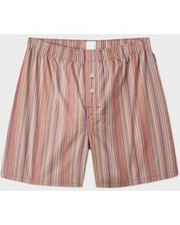 Paul Smith Men's Signature Stripe Cotton Boxer Shorts - Multicolour