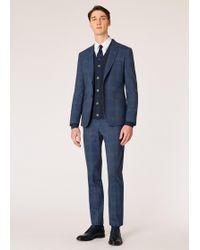 Paul Smith - The Kensington - Slim-fit Loro Piana Slate Blue Check Suit - Lyst