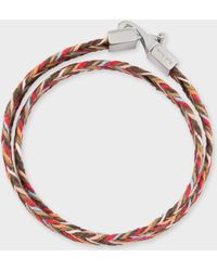Paul Smith - Multi-Coloured Woven Wrap Bracelet - Lyst