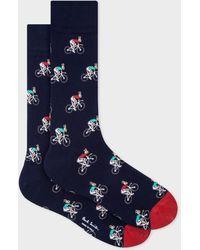 Paul Smith Navy Cycling Rabbit Socks - Blue