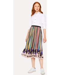 Paul Smith - 'Expressive Stripe' Pleated Skirt - Lyst
