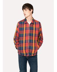 Paul Smith - Red And Orange Check Cotton Jacket - Lyst