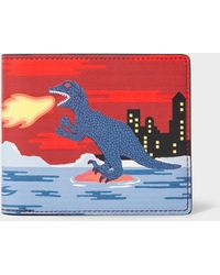 Paul Smith Portefeuille Billfold 'Dino' En Cuir - Multicolore