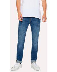Paul Smith - Slim-Fit 12oz 'Authentic Comfort Stretch' Antique-Wash Jeans - Lyst