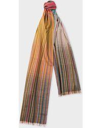 Paul Smith - Signature Stripe Gradient Wool-Blend Scarf - Lyst