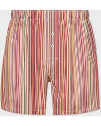 Paul Smith - 'signature Stripe' Cotton Boxer Shorts - Lyst