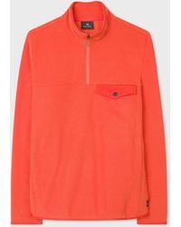 Paul Smith Orange Half-zip Funnel Neck Fleece