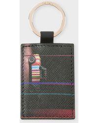 Paul Smith Black Leather 'mini' Keyring