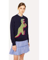 Paul Smith - Navy Large 'Dino' Print Cotton Sweatshirt - Lyst