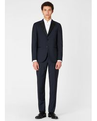 Paul Smith The Soho - Tailored-fit Navy Wool-mohair Evening Suit - Blue