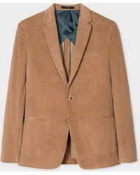 Paul Smith The Kensington - Slim-fit Camel Cotton-cashmere Corduroy Blazer - Natural