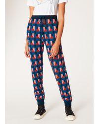 Paul Smith - Geometric-Jacquard Knitted Sweatpants - Lyst