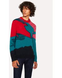 Paul Smith - Multi-Coloured Camouflage Mohair-Blend Sweater - Lyst