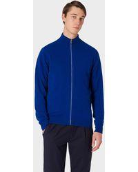 Paul Smith Indigo Cashmere Zip-through Cardigan - Blue
