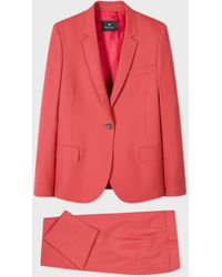 Paul Smith Coral Wool-hopsack Suit - Pink