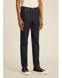 Paul Smith Tapered-fit Indigo-rinse 'crosshatch Stretch' Jeans - Blue