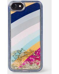Paul Smith 'glitter Swirl' Iphone 7/8 Case - Blue